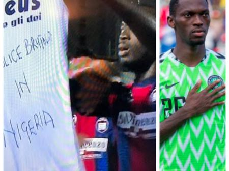 'Not Only Oshimen' See Another Nigerian Striker Who Showed Support For Protest Against Police Brutality