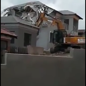 Drama As Boyfriend Demolishes House He Builts For Girlfriend After Being Dumped