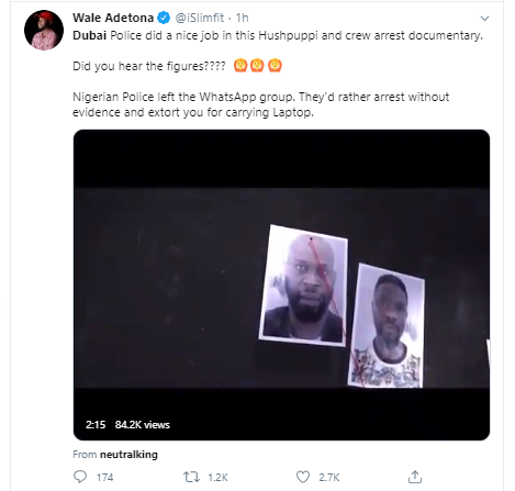 Nigerians praise Dubai police following the release of the video of Hushpuppi?s arrest alongside others