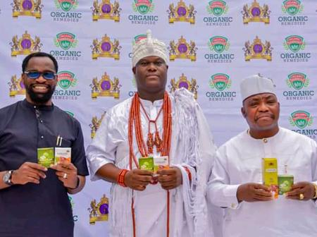 JUST IN: Ooni Partners YemKem, Launches Herbal Drug To Fight COVID-19, Diabetes, Others (PHOTOS)