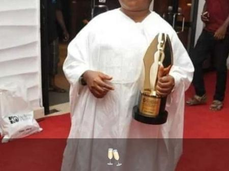 He won the lifetime achievement award at African movie academy. See photo
