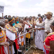 How President Uhuru Kenyatta Was Welcomed In Samburu Today