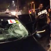 Drama as Angry Locals Cane Driver In front of Police Officer For Causing Accident [Video]
