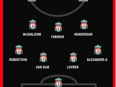 Liverpool Possible Lineup Against Sheffield United Tomorrow