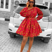 68 Well Designed Styles For Both Ankara And Lace Fabrics