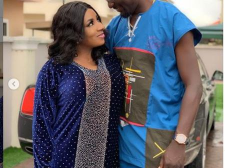 'This is long distance relationship': Fans React As Mide Martins, Adeniyi Johnson Share Rare Moment