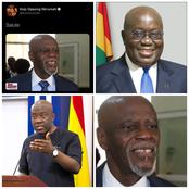 Fans react to Lawyer Akoto Ampaw's picture After Kojo Oppong Nkrumah Praised Him On Social Media.