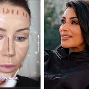 Checkout what this make up artist did to her face that made her look like Kim Kardashian