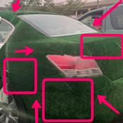 See What Was Spotted On The Body Of A Car In Lagos That Causes Reactions Online