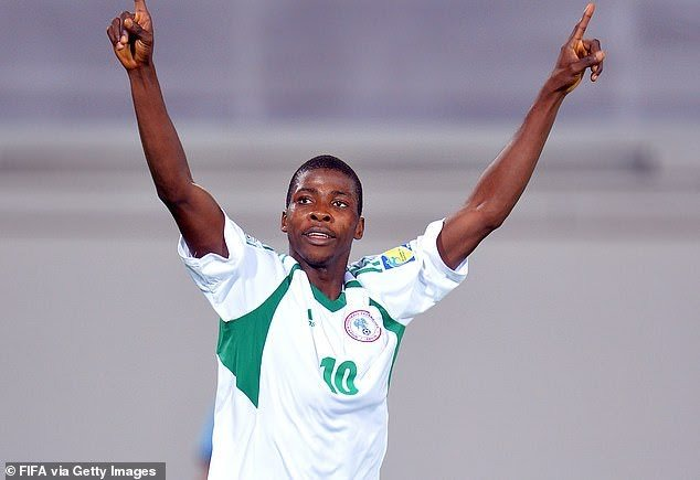 Iheanacho at the u-17 world cup with Nigeria