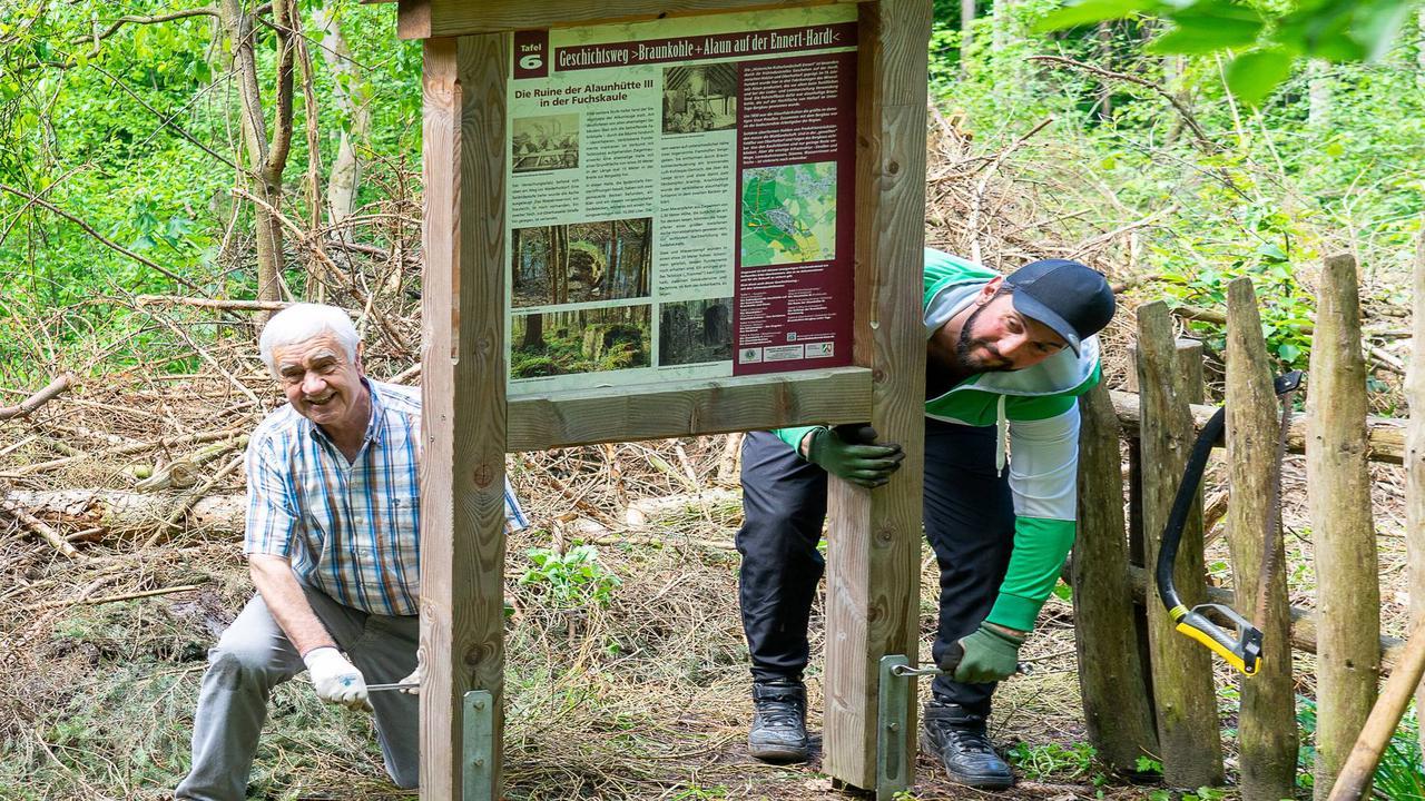 Borkenkäfer in Beuel: Infotafeln auf dem Alaun-Geschichtsweg sind wieder vollständig