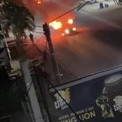 Des individus incendient des véhicules à Yopougon carrefour Académie, situation confuse