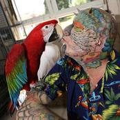 The 55-year-old man spent a lot of money on plastic surgery, cutting off his ears to be a parrot man