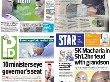 Daily Nation, The Standard, The Star And People Daily Newspapers Headlines