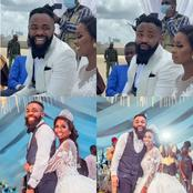 Photos From White Wedding Of Comedian Arole and Wife