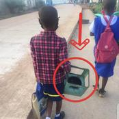 See What This Little Girl Was Seen With On Her Way To School That Moved Twitter People To Tears