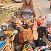 Hayek Hassan fait des heureux : Il soulage une jeune vendeuse ambulante de chaussures