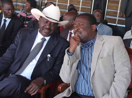 Raila's Top Ally Claims That Mudavadi Can Work With Baba But Under One Condition