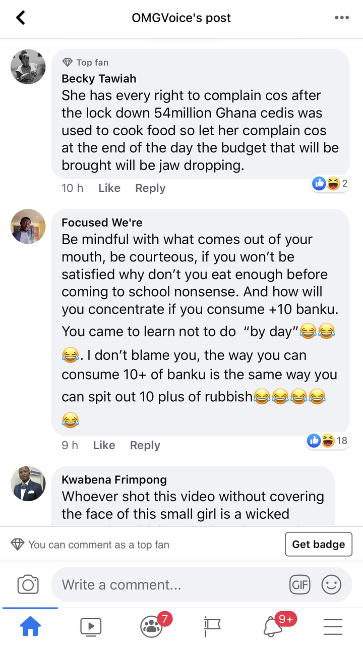 """48191e6f6711a516764d7e2cef40736c?quality=uhq&resize=720 - """"Half a loaf is better than none"""" Ghanaians descend on the JHS girl who complained about the one Banku"""