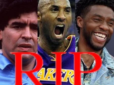 RIP Legends! See three Celebrities whose deaths shook the world in 2020 (Photos)