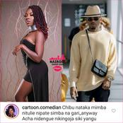 Kenyan Comedian Begs Diamond to Make Her Pregnant