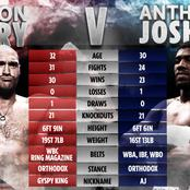 Everything you need to know about Anthony Joshua Vs Tyson Fury potential Fight