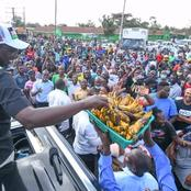 Photos of William Ruto in Embakasi West Today Addressing The Residents