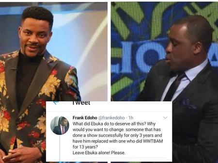 Frank Edoho Replies A Fan Who Wants Him To Replace Ebuka On BBN