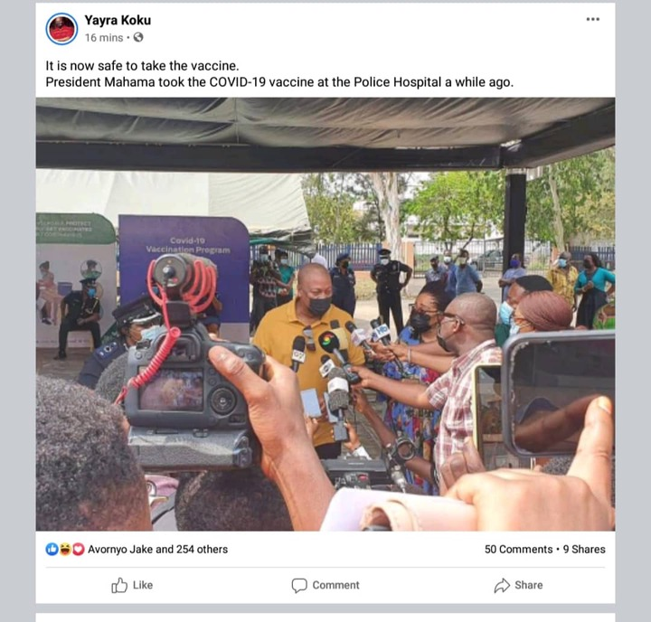 4864b6fa718d44ffbe746b9f920ad61e?quality=uhq&resize=720 - Ghanaians Joyfully Expresses Their Confidence In The COVID-19 Vaccines After John Mahama Took A Shot
