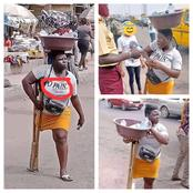 Checkout What Was Found Written On The Clothe Of A Hardworking One legged Woman