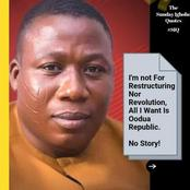 I'm Not For Restructuring Nor Revolution, All I Want Is Oodua Republic - Sunday Igboho