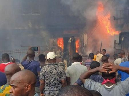 Avoid this route, as fire razes popular market in Lagos State- LASTMA