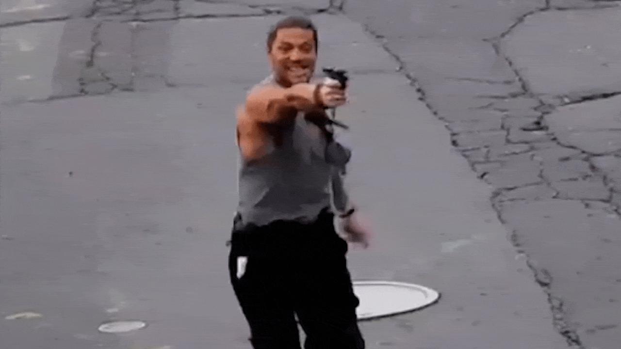 Caught on camera: Massachusetts man points gun at police, bystanders