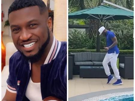 Peter Okoye Stuns In Lovely Outfit As He Shows Off Michael Jackson's Moon Walk Style