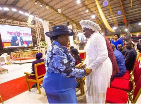 Photos of Prophetess Esther Ajayi With Adeboye, Olukoya, Oyedepo And Other Ministers of God
