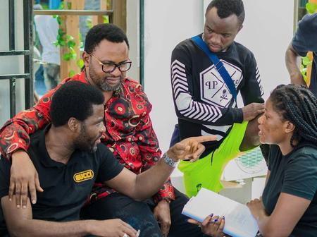 Photos of Muyiwa Ademola, Ibrahim Chatta, Anter Laniyan and other actors on the set of 'Ika'