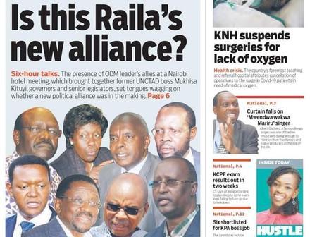 Reports on Raila Odinga's New 2022 Alliance