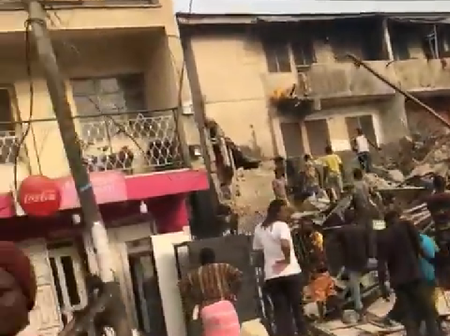 Video: Building collapses as fence, exterior parts were being demolished