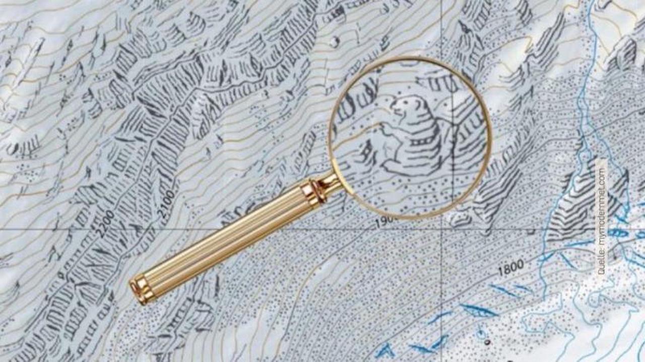 Versteckte Mini-Zeichnungen in Schweizer Landkarten entdeckt