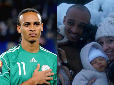 Football: Remember Osaze Odemwingie? Meet his wife and Beautiful kids (photos)