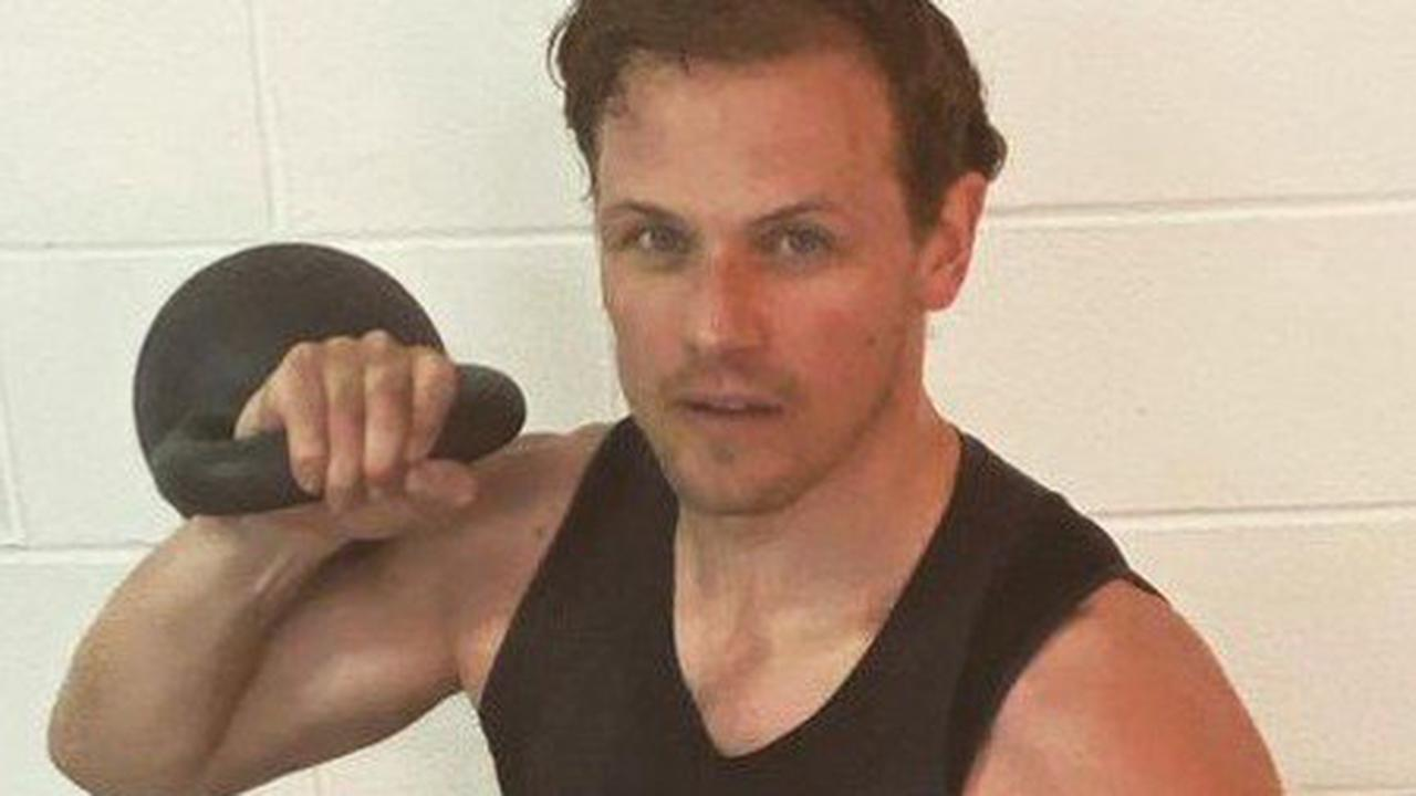 Outlander star Sam Heughan shares 'sweaty' snap & reveals gruelling workout routine