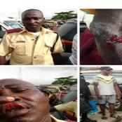 Photos: see what Naval officers did to a LASTMA official