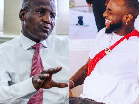 Look at what Davido posted about Aliko Dangote on his birthday yesterday