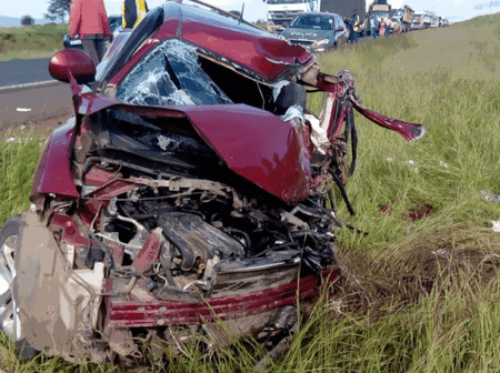 Accident Along Mombasa Road Killed two People Injuring Five Others
