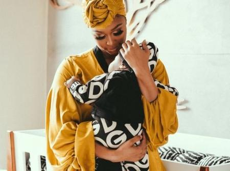 Minnie Dlamini with her baby boy- Checkout their pictures