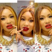 Actress Tonto Dikeh Dressed Up In Simple But Classy Outfit, Says She Is A Lover Girl(See Photos).