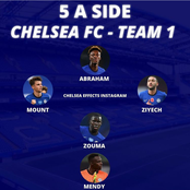 Check out these two 5-a-side teams of Chelsea Players. Which team will outperform the other?