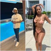 See Reactions On Twitter As Davido Steps Out With An American IG Model On Vacation.