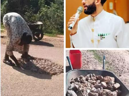 Nigerians blast Buhari's aide for challenging them to emulate a man filling potholes