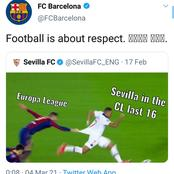 See How Barcelona Replied Sevilla After They Mocked Them With Mbappe And Pique's Picture